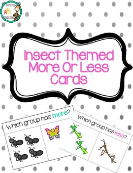 Insect Themed More or Less Cards
