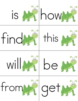 Insect Themed Read and Write the Room-Sight Words