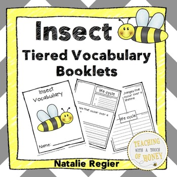 Insect Tiered Vocabulary Booklets