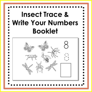 Insect Trace and Write Numbers Handwriting Booklet
