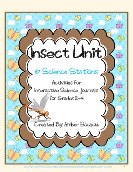 Insects Interactive Activities for Science Stations or Literacy Centers
