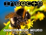 Insect Vocabulary Cards and Activities