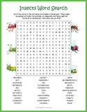 Bugs and Insects Word Search Puzzle