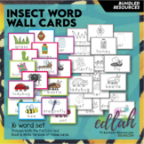 Insect Vocabulary Word Wall Cards (set of 16) - BUNDLE