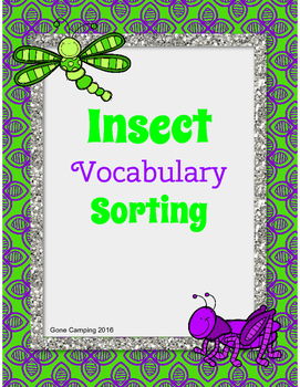 Insect Vocabulary and Activity
