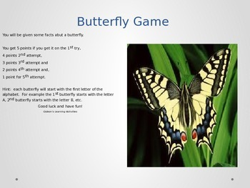 Insects -Butterfly Game
