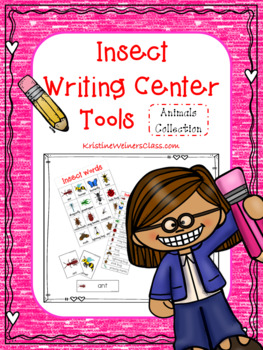 Insect Writing Center Tools: Animal Words