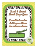Insect and Animal Bingo Game (French) and Vocab Cards - level 1