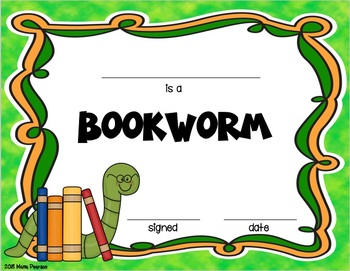 Insect and Bookworm Editable End of the Year Awards