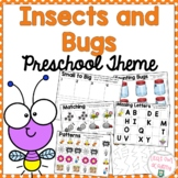 Insect and Bugs Preschool Packet