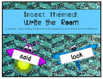 Insect or Bug Themed:  Sight Word Write the Room