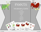 Insect vs. Not an Insect Vocabulary Cards