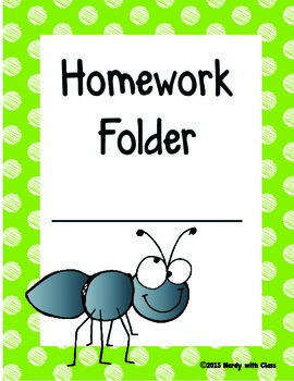 Insect/Bugs Theme Homework Folder Covers
