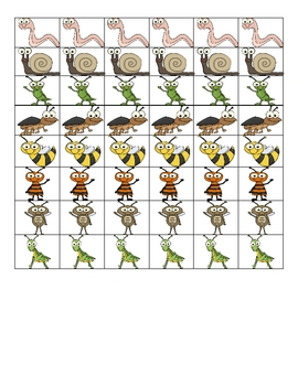 InsectTheme Counting Mats and Counters