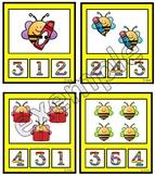 Insectes: cartes à pinces (abeilles)