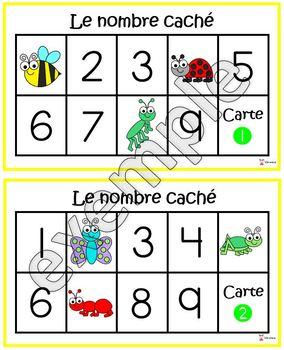 Insectes et bestioles: nombre caché