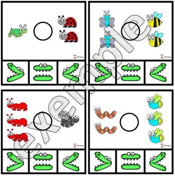 Insectes: plus grand, plus petit ou égal