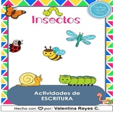 Insectos escritura - Insects in Spanish. DIGITAL & PRINT