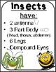 Insects Activities & Crafts for preschool, kindergarten, first grade
