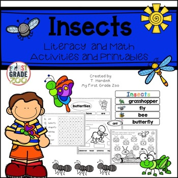 Insects - Literacy and Math Based Activities