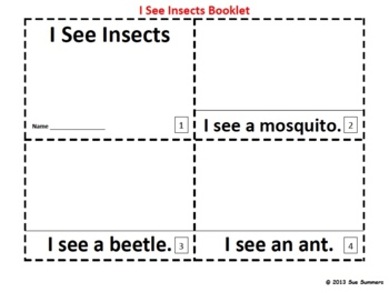 Insects 2 Emergent Reader Booklets - ENGLISH