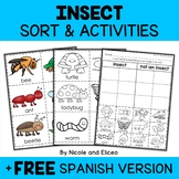Bugs and Insects Sort Activities