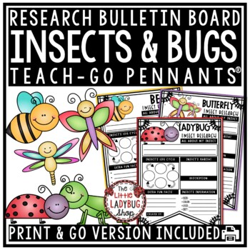 Bugs & Insects Printable Activities Research Teach- Go Pennants Insects Activity
