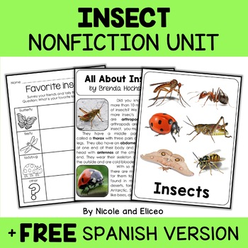 Nonfiction Unit - Insect Activities