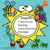 Spring Reading Comprehension - Insects Reading Comprehension  (5 Non-fiction)