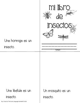Insects:  A Spanish Thematic Unit for Reading/Writing/Comprehension and Science