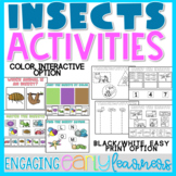 Insects Activities | Interactive and Printable Options