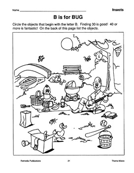 Insects: Skill-Based Activities for Grades 3-4