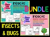Insects BUNDLE : Graphic Organizers, Anchor Charts, Worksheets, Posters