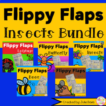 Insects Bug BUNDLE Flippy Flaps Interactive Notebook Lapbook