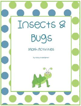 Insects & Bugs Differentiated Math Activities