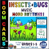 Insects Bugs MUSIC ACTIVITIES Boom Cards™ Digital Games Th
