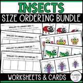 Insects Bugs Size Ordering Bundle from Smallest to Largest