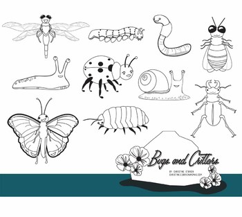 Insects, Bugs and Critters Clip Art Set