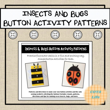 Insects, Bugs, and More DIY Button Activity Patterns
