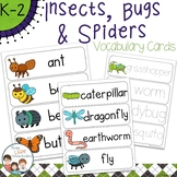 Insects Bugs and Spiders Vocabulary Word Wall Cards plus Write & Wipe Version