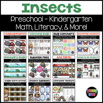 Insects Bundle | Math, Literacy, & More Activities