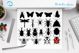 Insects Bundle SVG Cut Files, Insect Clipart, Dragonfly, Ladybug, Butterfly.