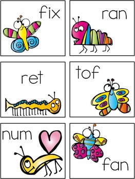 Insects: Buzzing For Words - Real & Nonsense Word Sort
