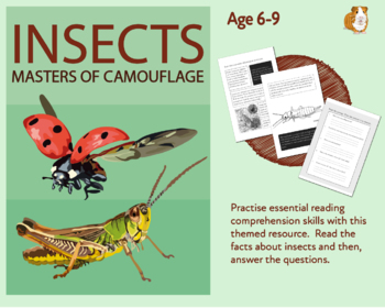 Insects Camouflage: Let's Practise Our Reading Comprehension (6-9 years)