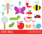 Insects Clip Art, Bugs, Mini Beasts