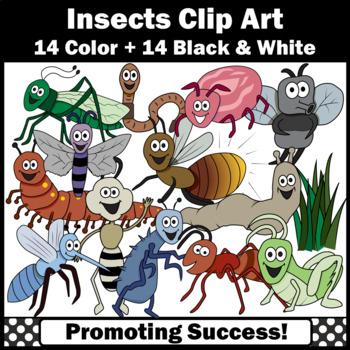 Backyard Bugs Clip Art, Grasshopper, Mosquito, Moth, Commercial Use SPS