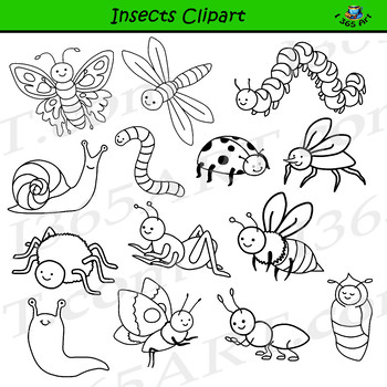Insects Clipart - Bug Graphics - PNG & JPEG