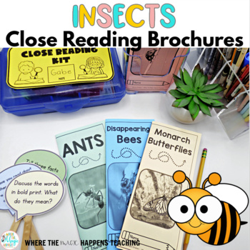 Insects Close Reading Passages with Questions
