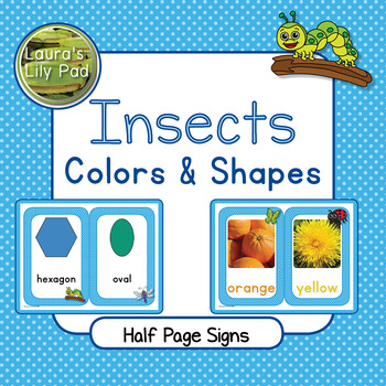Insects Colors and Shapes Signs