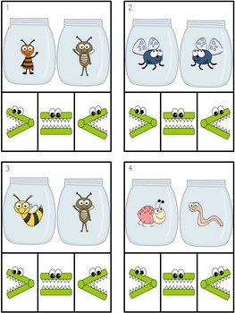 Insects: Comparing Collections (Greater Than, Less Than, Equal To)